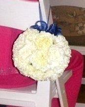 bridal pomander: flower ball