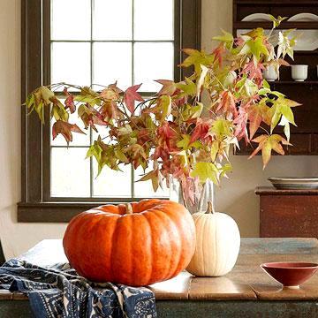 pumpking arrangement, photo credit: Better Homes and Gardens