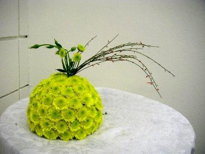 Unique pomander used as a centerpiece