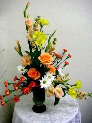 ceterpiece: vegetable arrangement