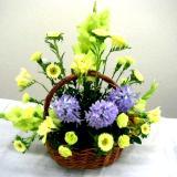 basket arrangement: flower basket