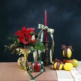 Candle flower arrangement