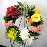 Easel mounted wreath