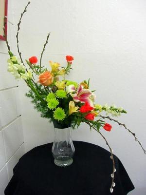 S Shape Arrangement California Flower Art Academy