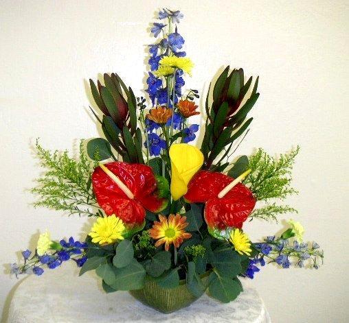 European floral arrangement
