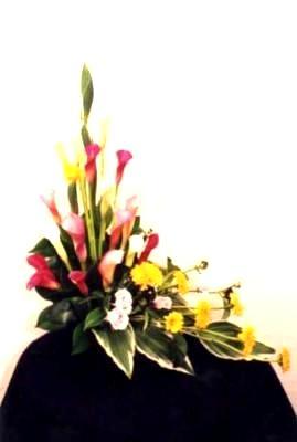 L Shaped Arrangement California Flower Art Academy