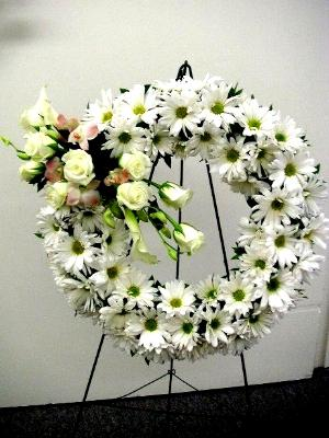 easel mounted wreath