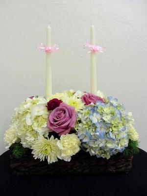 candle flral arranging